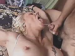 Mom fucks in all holes and gets cum