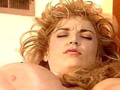 Blonde Gets A Mouthful Of Steaming Sperm