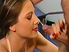 Nurse gets facial after anal fuck