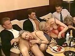 Busty blonde wife shows pussy