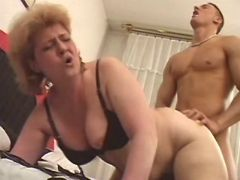Hard guy crazy fucks old plump lady