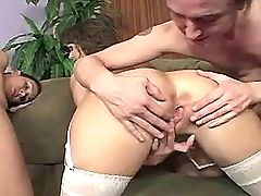 Mature has hot anal fuck n gets cum