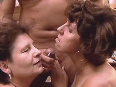 Two aged matures fuck n get facial
