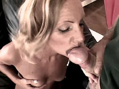 Blond mature has anal n gets facial